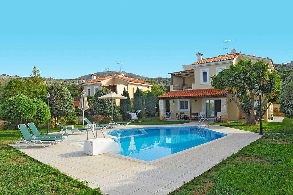 Ruime, rustig en mooi gelegen villa's (2 8 personen) met privé zwembad vlakbij rethymnonmooi uitzicht vanuit ...
